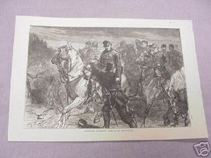 1886 Civil War Illustrated Page General Jackson Wounded