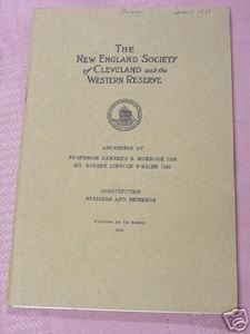 New England Society of Cleveland & Western Reserve 1929