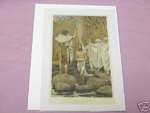 1899 Illustrated Bible Page The Baptism of Jesus