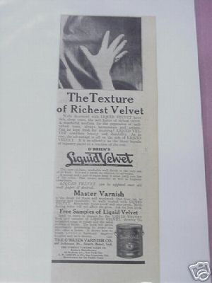 1915 Ad O'Brien's Liquid Velvet, The O'Brien Varnish Co
