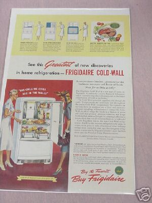 1940 Frigidaire Cold-Wall Refrigerator Color Ad