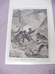 War of 1812 The Death of Lawrence 1887 Illustrated Page