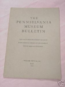 1931 The Pennsylvania Museum Bulletin Cottage China