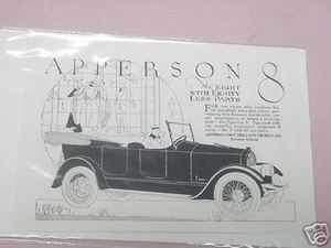 1919 Apperson 8 Ad Apperson Brothers Automobile Co.