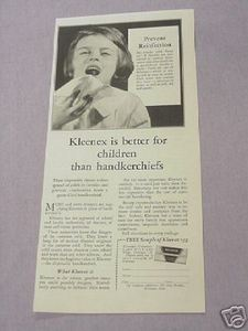 1931 Kleenex Ad Better For Children Than Handkerchiefs