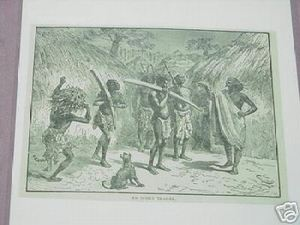 1889 Africa Illustrated Page An Ivory Trader