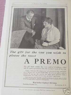 1914 Premo Camera Ad Eastman Kodak Co, Rochester, N. Y.