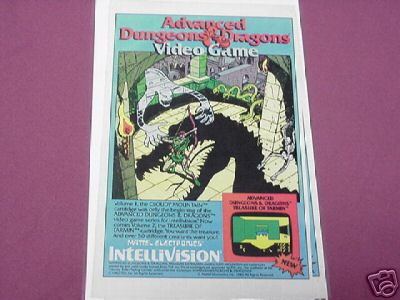 1982 Advanced Dungeons and Dragons Video Game Ad AD&D