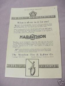 1917 Ad Marathon Tire & Rubber Co., Cuyahoga Falls Ohio