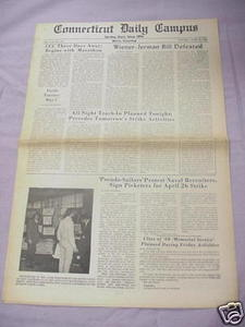 April 25, 1968 Connecticut Daily Campus Newspaper UCONN