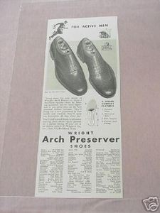 1941 Ad Wright Arch Preserver Shoes Rockland, Mass.