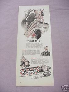 1942 Barbosal Shaving Cream & Barbasol Blades Ad