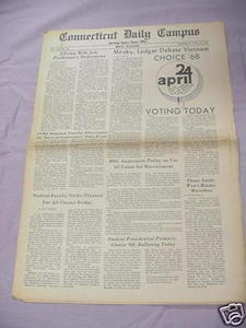 April 24, 1968 Connecticut Daily Campus Newspaper UCONN
