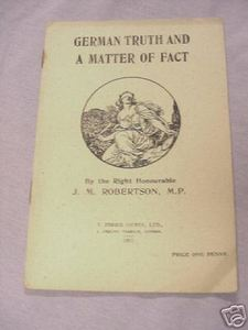 German Truth and A Matter of Fact WWI Booklet 1917