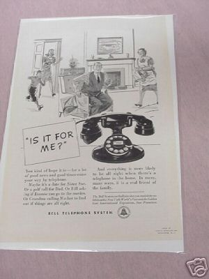 1940 Bell Telephone System Ad