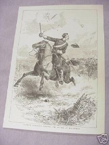 1886 Civil War Illustrated Page Captain Northrop