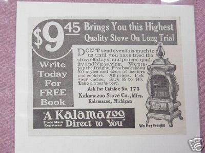 1914 Kalamazoo Stove Co. Ad, Kalamazoo, Michigan