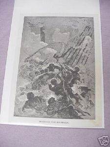 War of 1812 Boarding the Reindeer 1887 Illustrated Page