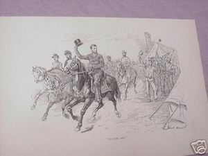 1894 Civil War Illustrated Page Abe Lincoln on a Horse
