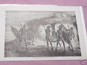 1889 Africa Illustrated Page Natives on the Lulua River