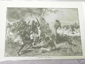 1889 Africa Illustrated Page Marching Into Ugogo