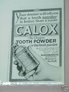 1918 Ad Calox The Oxygen Tooth Powder
