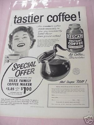 1954 Nescafe' Instant Coffee Ad