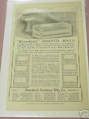 1914 Ad Standard Sanitary Mftg. Co., Pittsburgh, Pa.