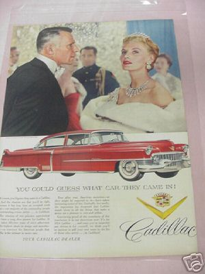 1954 Cadillac Color Ad Guess What Car They Came In