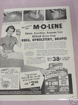 1955 M-O-Lene Cleaner-Concentrate Full Page Ad