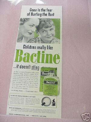 1955 Children Really Like Bactine Ad