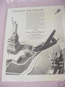 1941 Military Ad The New York Trust Company