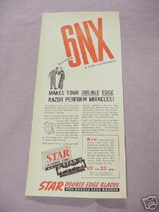 1942 Star Double Edge Blades Ad 6NX It's A Secret