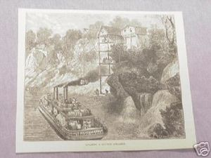 1886 Civil War Illustrated Page Cotton Steamer Loading