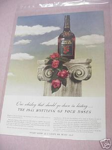 1941 Ad Four Roses Whiskey