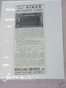 1941 Nikor Enlarging Easel Photography Ad