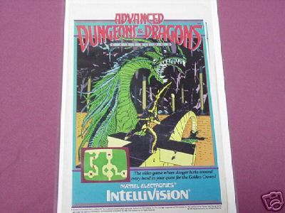 1983 Advanced Dungeons and Dragons Video Game Ad AD&D