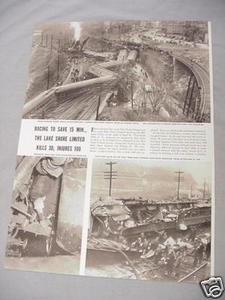 1940 Railroad Magazine Article Lake Shore Limited Wreck