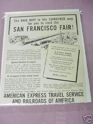 1939 Ad San Francisco World's Fair