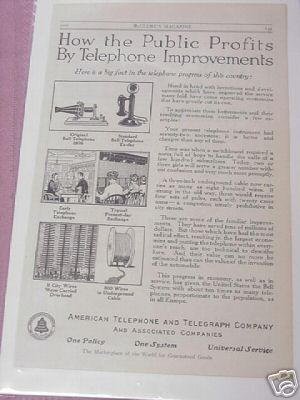1914 American Telephone and Telegraph Co. Ad AT&T