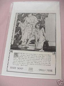 1918 Ivory Soap Ad Girl Taking A Bath