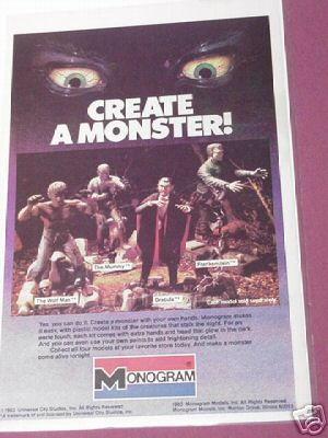 1983 Monogram Monster Models Color Ad