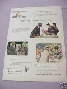 1942 Color Ad F.T.D. That's Why Flowers Were Born