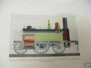 1947 Illustrated Page British Locomotive Engine 1848