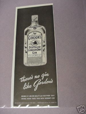 There's No Gin Like Gordon's 1950's Ad