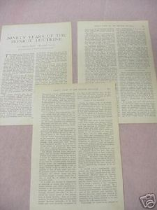 1914 Magazine Article 90 Years of the Monroe Doctrine