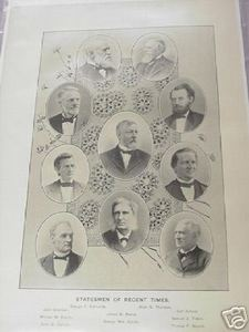 1894 Illustrated Page-Statesmen of the Mid-Late 1800's