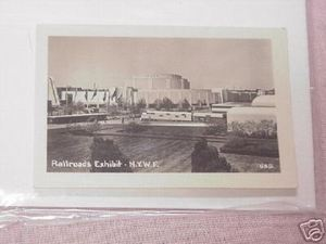 1939 New York World's Fair Railroads Exhibit Photo