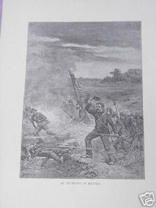 1894 Civil War Illustrated Page An Incident of Battle