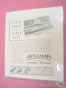 1941 Ad J. H. Williams & Co. Williams Tool Sets